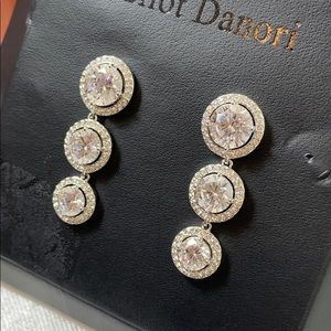 New Eliot Danori crystal drop earrings